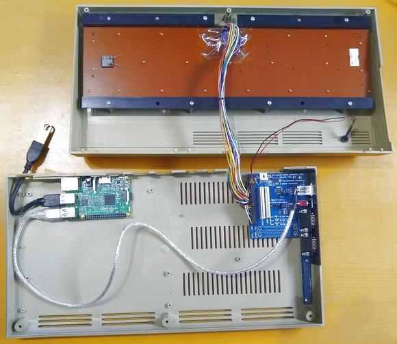 Commodore C64 Gehäuse-Umbau mit Raspberry Pi und Combian 64